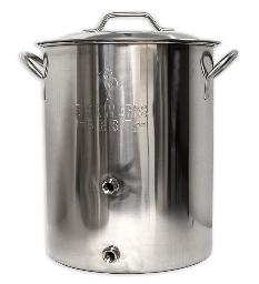 16 GALLON BREWING KETTLE w/TWO PORTS