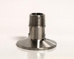 STAINLESS TRI-CLAMP FITTING W/ 1/2″ MPT