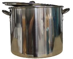 42 QT STAINLESS STEEL BREWING POT WITH LID