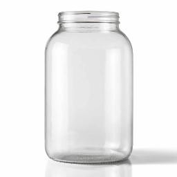 WIDE MOUTH CLEAR ONE GALLON JUG