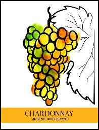 CHARDONNAY WINE LABEL
