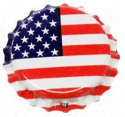 AMERICAN FLAG CROWN CAPS 144/bag