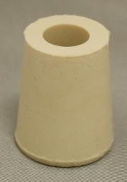 No. 2 Pure White Gum Laboratory Stoppers – Drilled
