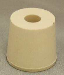 No. 5.5 Pure White Gum Laboratory Stoppers – Drilled