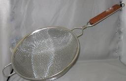 STAINLESS STEEL DOUBLE MESH STRAINER 10″